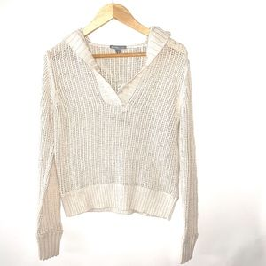 James Perse Knit V-Neck Hoodie L17